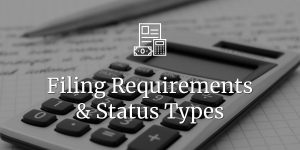 Filing tax requirements